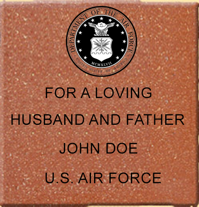 Example of Brick for Veterans Freedom Park